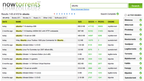 NowTorrents, le site