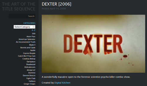The art of the title sequence, le blog
