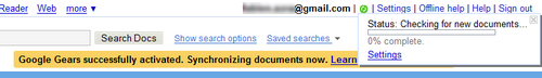Google Docs, synchronizing documents