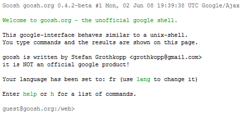 goosh - the unofficial google shell